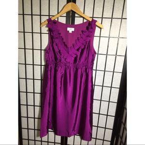 Ann Taylor LOFT feathered purple dress